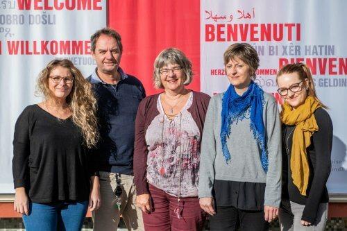 L'equipe du site de Santé bernoise à Tavannes : Anne-Christine de Chastonay, Philippe Beuret, Monika Baitz, Caroline Cremona, Cathy Tobler (de gauche à droite) Photo : Pascal Crelier